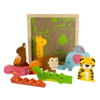 Kiddie Connect - Wild Animal Chunky Puzzle