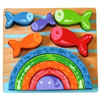 Kiddie Connect - Fish and Rainbow Puzzle