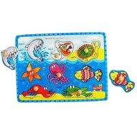 Fun Factory - Sea Animals Peg Puzzle