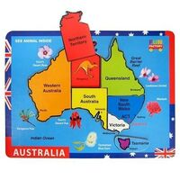 Fun Factory - Australia Map Raised Puzzle