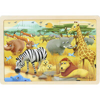 Masterkidz - Wooden Jigsaw Puzzle - Safari 20pc