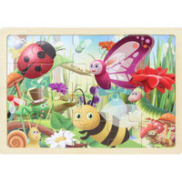 Masterkidz - Wooden Jigsaw Puzzle - Insects 20pc