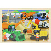 Masterkidz - Wooden Jigsaw Puzzle - Construction Site 20pc