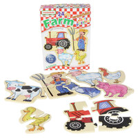 Masterkidz - Wooden Mini Puzzles - Farm