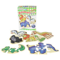 Masterkidz - Wooden Mini Puzzles - Animals