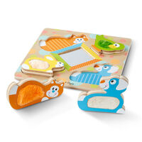 Melissa & Doug - First Play - Touch & Feel Puzzle - Peek-a-Boo Pets