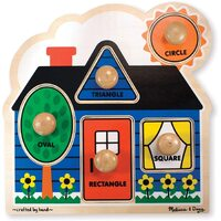 Melissa & Doug - First Shapes Jumbo Knob Puzzle - 5pc