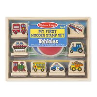 Melissa & Doug - My First Wooden Stamp Set - Vehicles