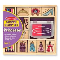 Melissa & Doug - Wooden Princess Stamp Set