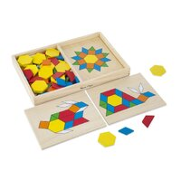 Melissa & Doug - Pattern Blocks And Boards
