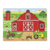 Melissa & Doug - Around the Farm Sound Puzzle - 8pc
