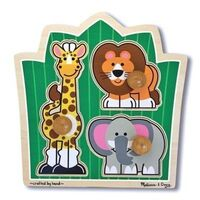 Melissa & Doug - Jungle Friends Knob Puzzle - 3pc