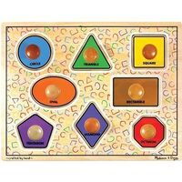Melissa & Doug - Large Shapes Jumbo Knob Puzzle 8pc
