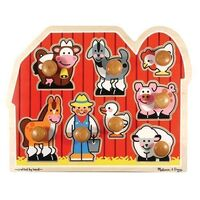 Melissa & Doug - Large Farm Jumbo Knob Puzzle - 8pc
