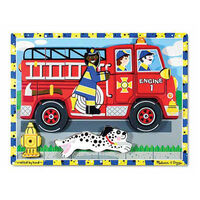 Melissa & Doug - Fire Truck Chunky Puzzle - 18pc