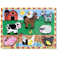 Melissa & Doug - Farm Animals Chunky Puzzle 8pc
