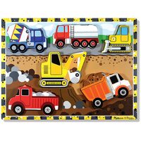 Melissa & Doug - Construction Chunky Puzzle - 6pc
