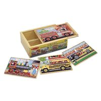 Melissa & Doug - Vehicles Jigsaw Puzzles In A Box - 12pc