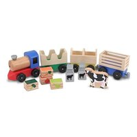Melissa & Doug - Wooden Animal Farm Train