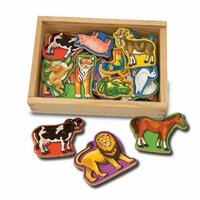 Melissa & Doug - Animal Magnets In A Box of 20