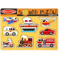 Melissa & Doug - Vehicles Sound Puzzle - 8pc