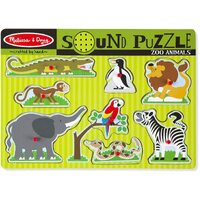 Melissa & Doug - Zoo Animals Sound Puzzle - 8pc
