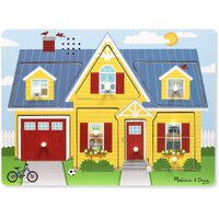 Melissa & Doug - Around the House Sound Puzzle - 8pc