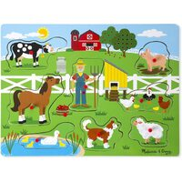 Melissa & Doug - Old MacDonald Farm Sound Puzzle - 8pc