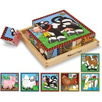 Melissa & Doug - Farm Cube Puzzle - 16pc