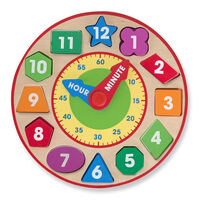 Melissa & Doug - Wooden Shape Sorting Clock