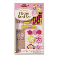 Melissa & Doug - Decorate-Your-Own Wooden Flower Bead Set