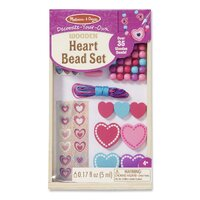 Melissa & Doug - Decorate-Your-Own Wooden Heart Bead Set