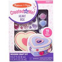 Melissa & Doug - Decorate-Your-Own Wooden Heart Box