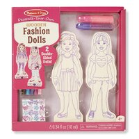 Melissa & Doug - Decorate-Your-Own Wooden Fashion Dolls