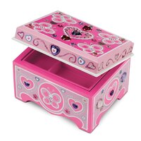 Melissa & Doug - Decorate-Your-Own Wooden Jewellery Box