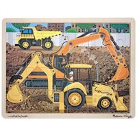 Melissa & Doug - Diggers At Work Jigsaw 24pc