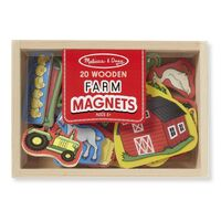 Melissa & Doug - Wooden Farm Magnets 20pc