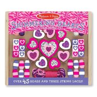 Melissa & Doug - Shimmering Hearts Wooden Bead Kit