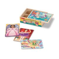 Melissa & Doug - Fanciful Friends Puzzles in a Box 12pc