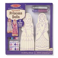 Melissa & Doug - Decorate-Your-Own Wooden Princess Dolls