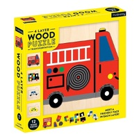 Mudpuppy - 4 Layer Wooden Puzzle - Transport