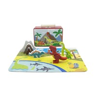 Kaper Kidz - Wooden Dinosaur Playset in Tin Case