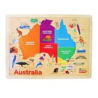 Fun Factory - Australia Map Puzzle 48pc