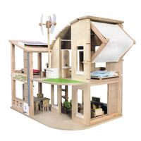 PlanToys - Green Dollhouse with Furniture