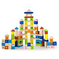 Viga Toys - Alphabet & Number Block Set (100 pieces)