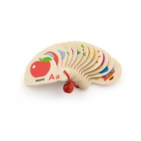 Viga Toys - Mini Wooden Alphabet Book