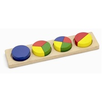 Viga Toys - Fraction Maths Blocks