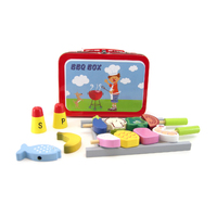 Kaper Kidz - Wooden BBQ Set in Carry Case