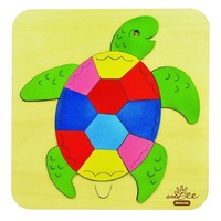 Andzee - Rainbow Turtle Raised Puzzle 7pc