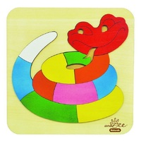 Andzee - Rainbow Snake Raised Puzzle 11pc
